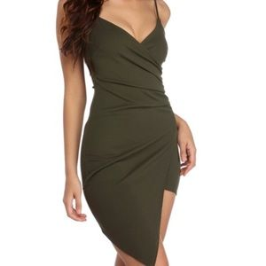 Brand New, Never Worn Olive Green Cocktail Dress